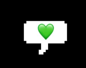 heart green sticker bubbleword legoword