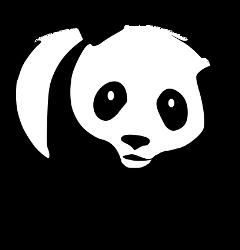 ftestickers blackandwhite cute panda animal