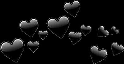 corações black emotions freetoedit cora