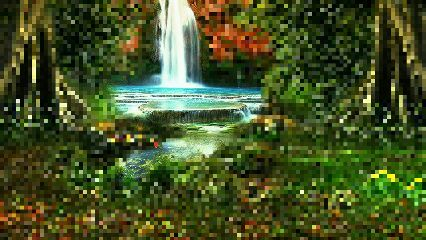 pixelate water waterfall nature photography