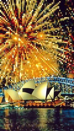 pixelate colorful photography firework sydney