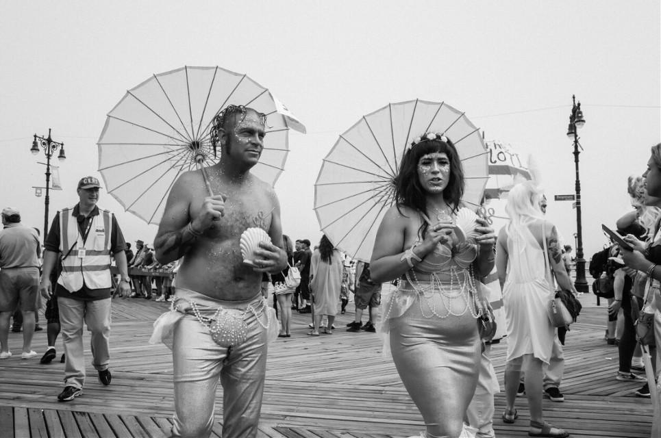 Mermaid Parade #stree #blackandwhite #street #blackandwhite