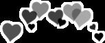 black corazones freetoedit