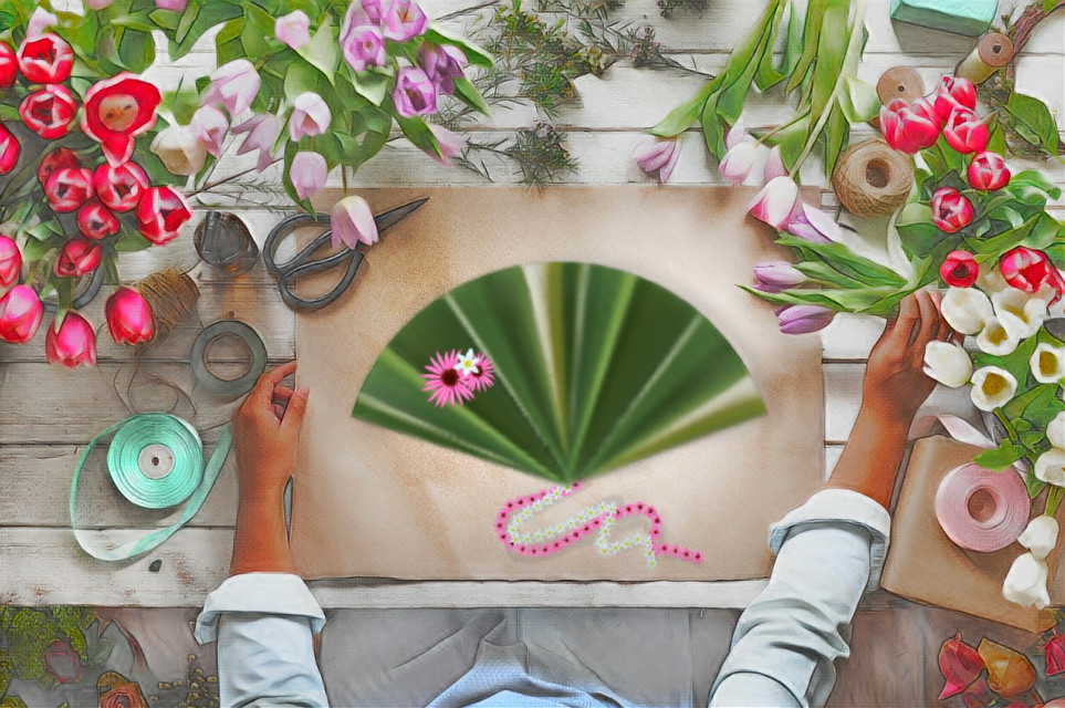 #madewithpicsart #makeafan #fan  #tools #stretchtool #flowers #drawingtools #floramagiceffect #tulips #colorful #lookingdown