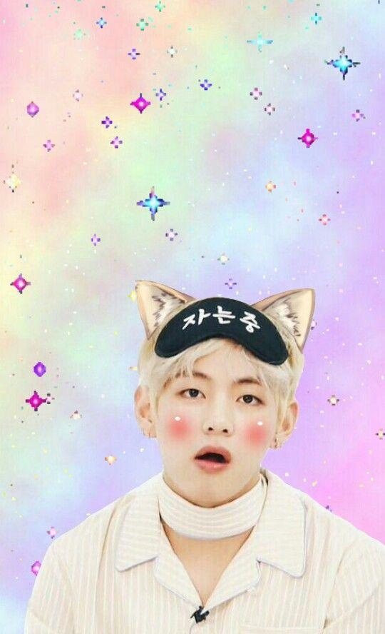 Taehyungiee Taehyung Bts V Cute Pink Wallpaper Kore