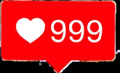heart love 999 notification freetoedit