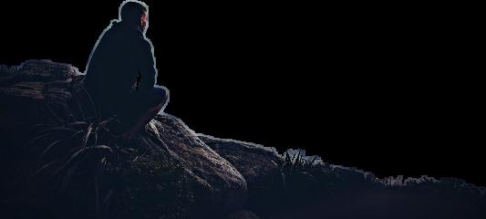 ftestickers man sitting mountain freetoedit