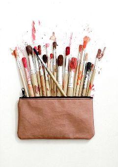 freetoedit painting paintbrush paint bag