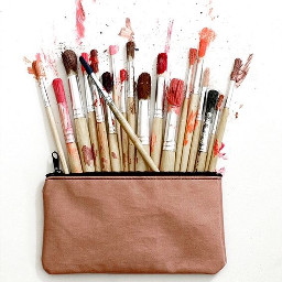 freetoedit painting paintbrush paint bag