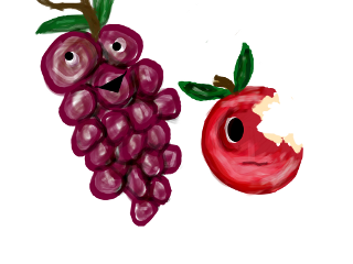 wdpfruitveggiecharacters fruit emotions grapes apple