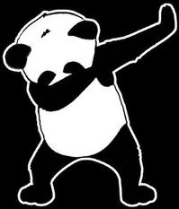 panda dab stickers freetoedit