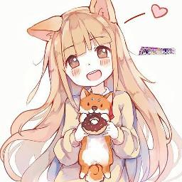 freetoedit kawaiianime anime japanese cutedog
