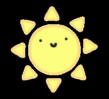 sticker sun sonne yellow freetoedit