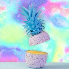 freetoedit tumblr piña pineapple galaxy