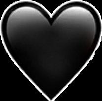 сердце сердечко чёрный смайл смайлик