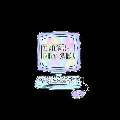 internet girl text computer screen