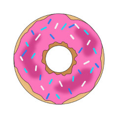 donut sweet treat colorful food freetoedit
