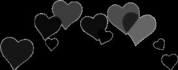 hearts stiker black freetoedit