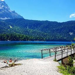 eibsee bayern bluewater grainau idyllic