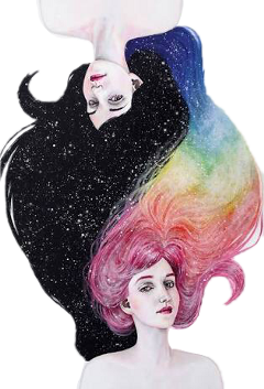 gemini art beautiful night colorful