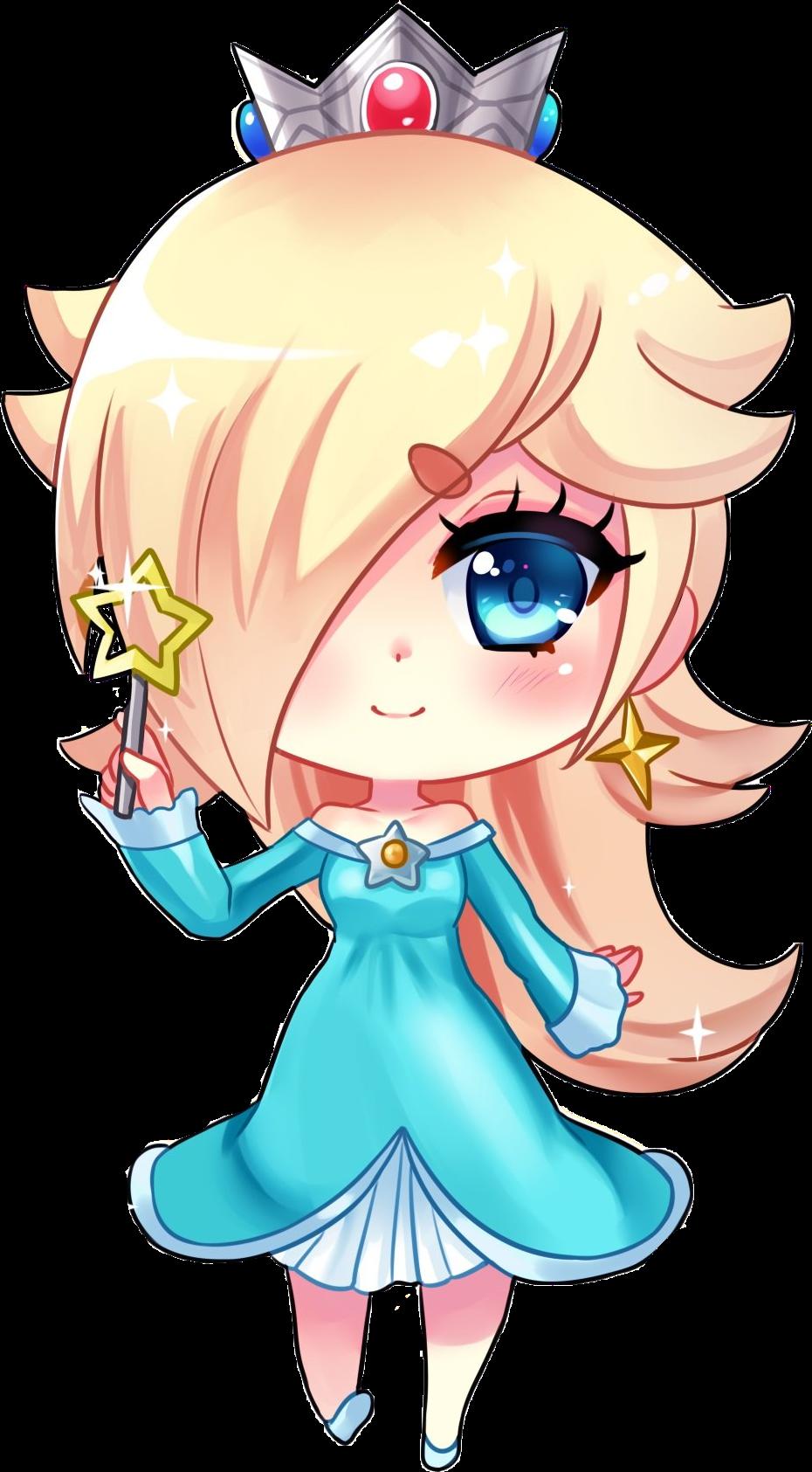 Fille Kawaii Blonde Chibi Mario Princess Rosalina Harmo