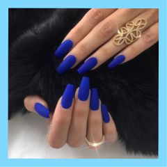 nail blue bluenails nails aesthetic freetoedit