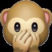 monkey emoij overlay freetoedit