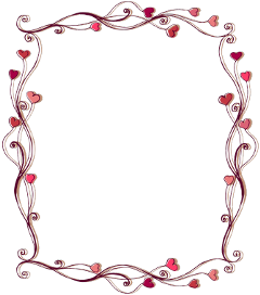 frame border hearts love ftestickers