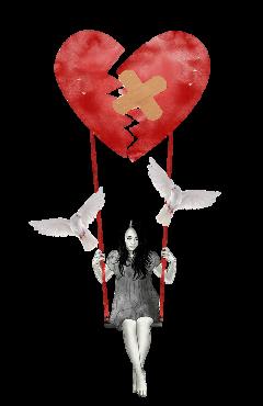 brokenheartstickerrimx freetoedit