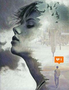 doubleexposurecontest editing love fantasy surreality freetoedit