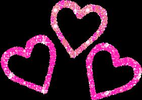 sticker hearts love glitterhearts glitterpink