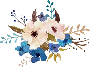 peachcolor blue flowers flores azul