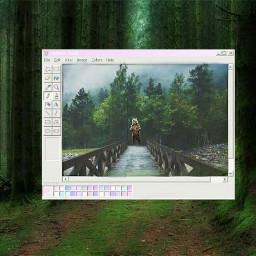 freetoedit paint byebye oldschool rainforest