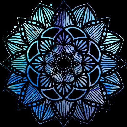 #mandalas #mandala #blue #azul #purple #morado #frio #negro #tumblr