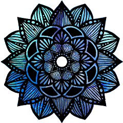 mandalas mandala blue azul purple