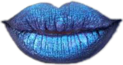 lips holographic labios blue freetoedit