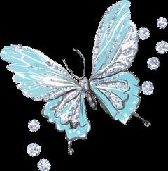 butterfly butterflywings blue glitter sparkly