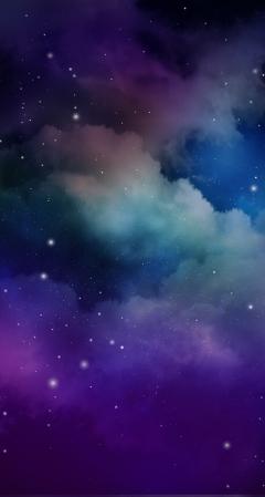 beautiful clouds blue purple sky