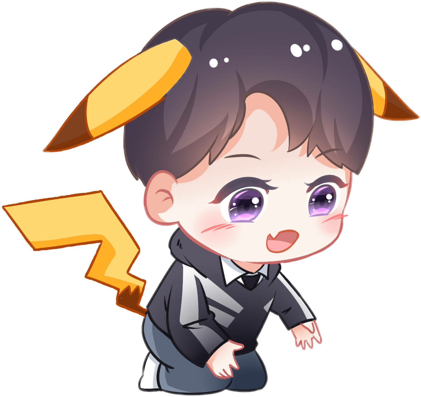 Tfboys 王俊凯 Wangjunkai Chibi Pikachu