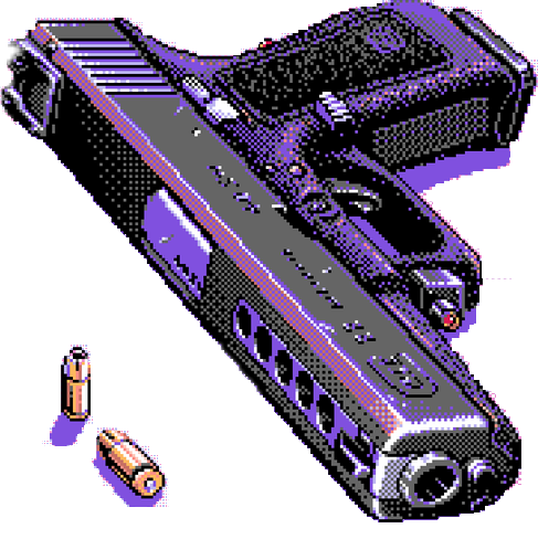 #vaporwave #pixel #pistol #gun #bullet