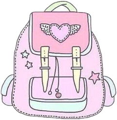 backpack bag pink yellow blue