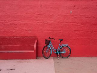 freetoedit minimal red bicycle transportation