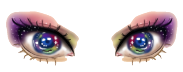 eyes rainbow emoji freetoedit