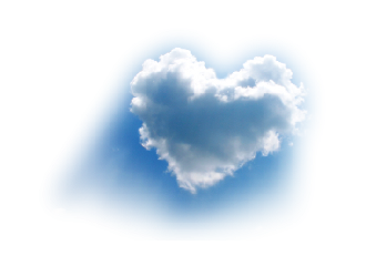 sky cloud heart nuvola love