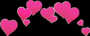 corazones rosa corona freetoedit