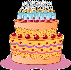 cake camdles happybirthday cherry heart
