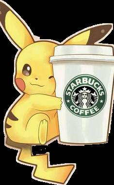 pikachukawaii starbucks tumblr kawaii freetoedit