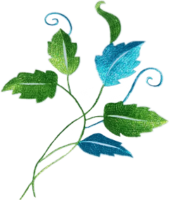 embrodery freetoedit leaves vine blue