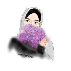 freetoedit girl cute flower hidjab