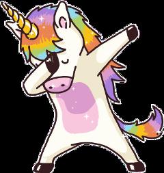 unicorn ftestickers dabbing freetoedit fteunicorn
